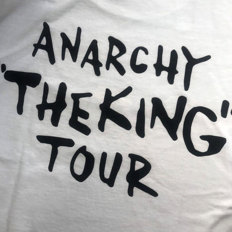 "ANARCHY ""THE KING""  TOUR T-Shirt (WHITE)"