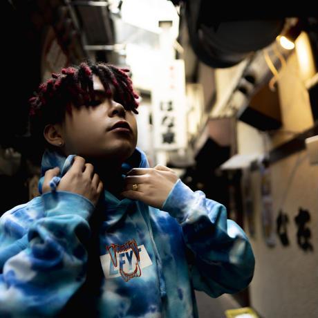 "Leon Fanourakis x LFYT ""SHISHIMAI"" HOODIE (MULTI BLUE)"