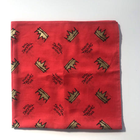 "ANARCHY ""THE KING""  TOUR BANDANA (RED / WHITE)"