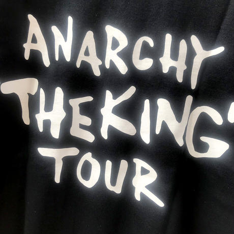"ANARCHY ""THE KING""  TOUR T-Shirt (BLACK)"