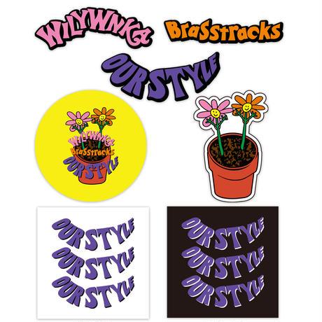 "WILYWNKA & Brasstracks ""Our Style"" ステッカーセット (ステッカー7枚)"
