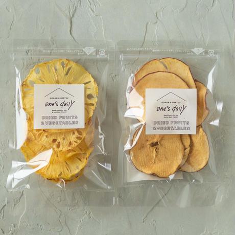【季節限定】芯まで甘い!ドライ台湾パイン&アップル《ネコポス利用お得2袋セット》