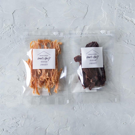若鶏のささみジャーキー&鹿肉ジャーキー《ネコポス利用お得2袋セット》※送料込み商品