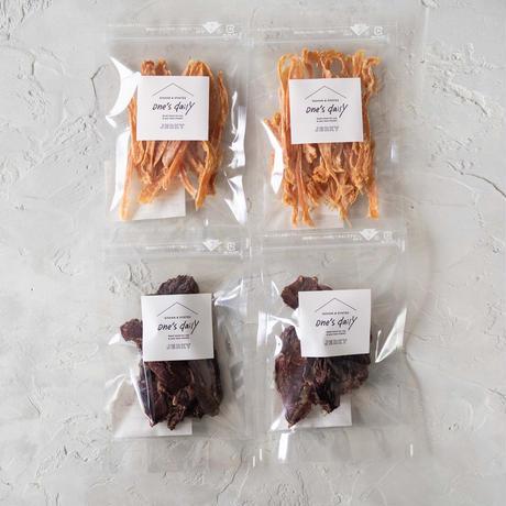 若鶏のささみジャーキー2袋&鹿肉ジャーキー2袋《ネコポス利用お得4袋セット》※送料込み商品
