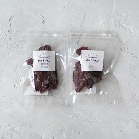 驚異の食いつき!北海道産エゾ鹿の鹿肉ジャーキー2袋《ネコポス利用お得2袋セット》※送料込み商品