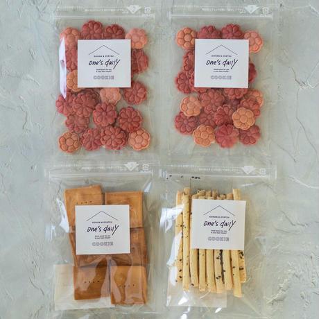 限定!米粉のカーネーションクッキー2袋&さつま&おから【ネコポス利用お得4袋セット】