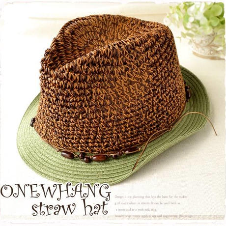 ブラウンカラー◆チロリアンハット ♪夏の鉄板ストローハット!メンズ&レディース にも大人気の麦わら帽子