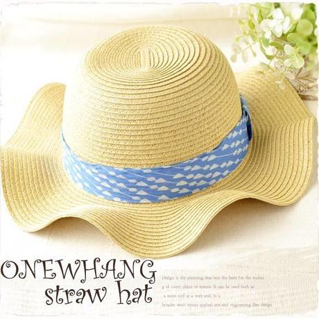 南国キャペリンハット♪ベージュでかわいい夏の麦わら帽子! ストローハット♪夏の麦わら帽子!