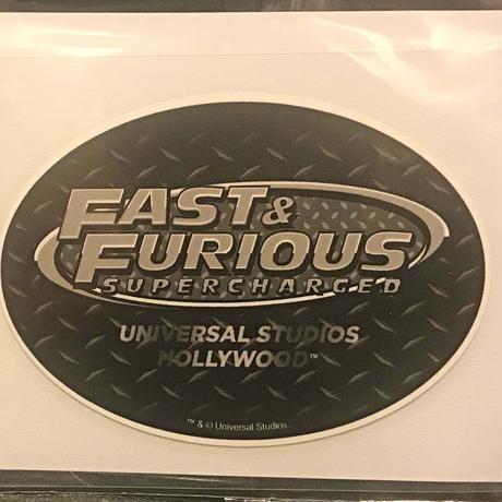 【ユニバーサル・スタジオ公式】FAST & FURIOUS SUPERCHARGED デカールシール