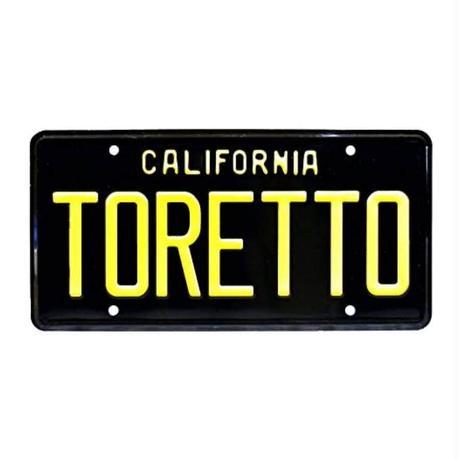 ドミニク・トレット 1970 ダッジ チャージャー ナンバープレート (TORETTO) カリフォルニア州