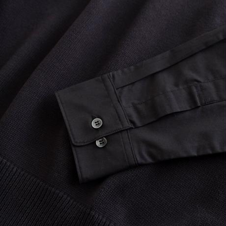 DISCOVERED SHIRT SLEEVE KNIT(BLACK)