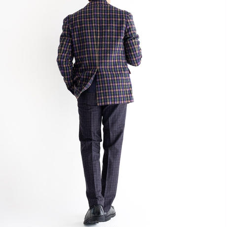 FEEL EASY ORIGINAL WOOL ALPACA CHECK JACKET(Multi)