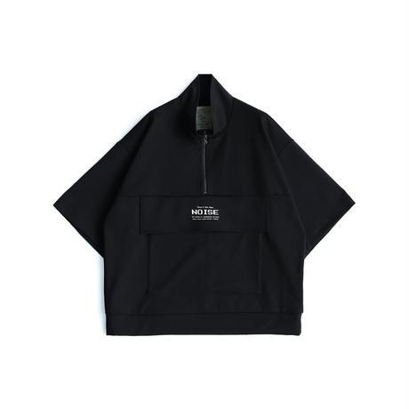 SHAREEF MILAN RIB HALF-ZIP S/S(Black)