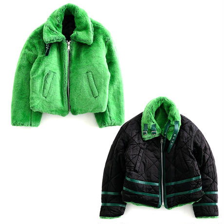 DISCOVERED FUR B-3 BLOUSON(GREEN×BLACK)
