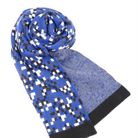 JENNIFER KENT PIXEL SCARF(BLUE)
