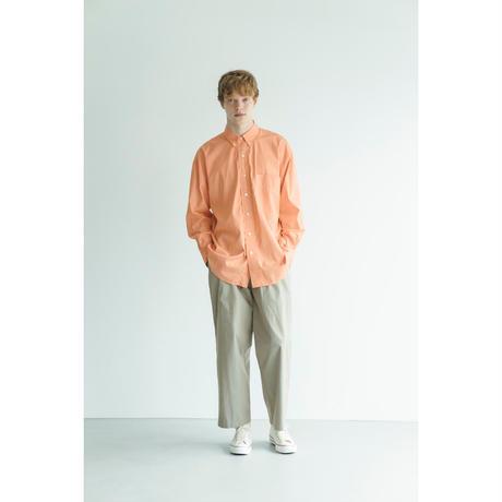 "nuterm ""The Earl"" B.D.Collar Shirts(Orange Stripe)"