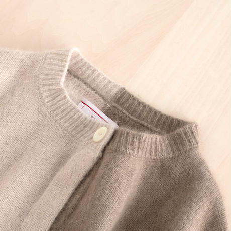 【WOMEN'S】THE FACTORY ラクーンニットカーディガン(Natural×Light Beige)