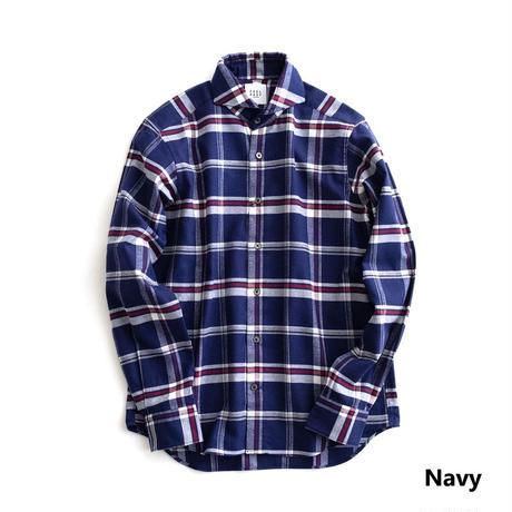 FEEL EASY ORIGINAL MADRAS CHECK FLANNEL SHIRT(Navy)