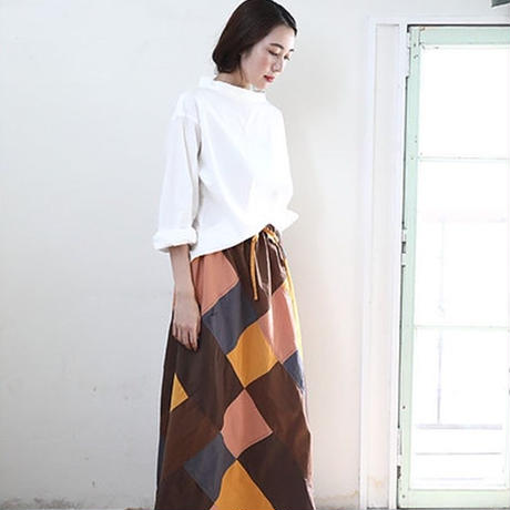 【WOMEN'S】THE FACTORY パッチワークスカート(Assort)