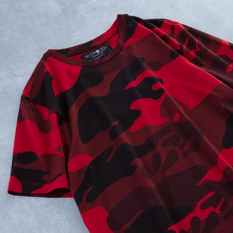 HYDROGEN CAMO SKULL T-SHIRT(RED CAMOUFLAGE)