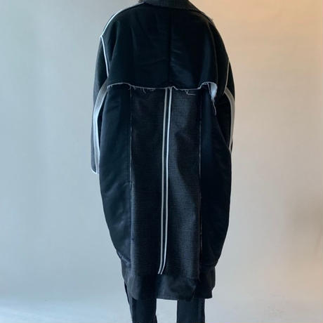 DISCOVERED CHECK NYLON COAT(BLACK)