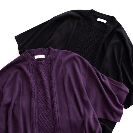 Iroquois C/R CABLE KNIT(PURPLE)