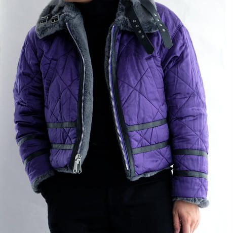 DISCOVERED FUR B-3 BLOUSON(GRAY×PURPLE)