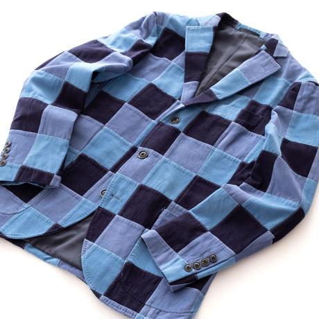 FEEL EASY ORIGINAL PATCHWORK JACKET(Blue Patch)