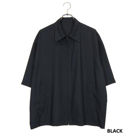 Iroquois 50Sツイルジップアップシャツ(BLACK)