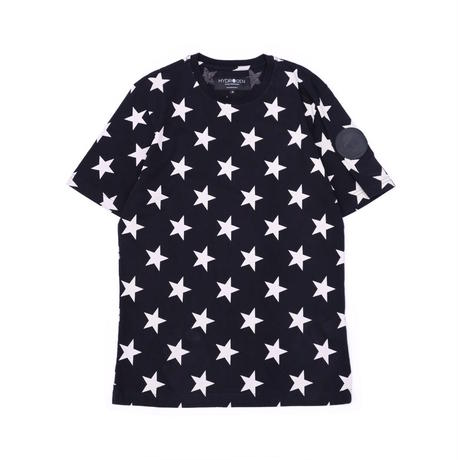 HYDROGEN ALLOVER STARS T-SHIRT(BLACK)