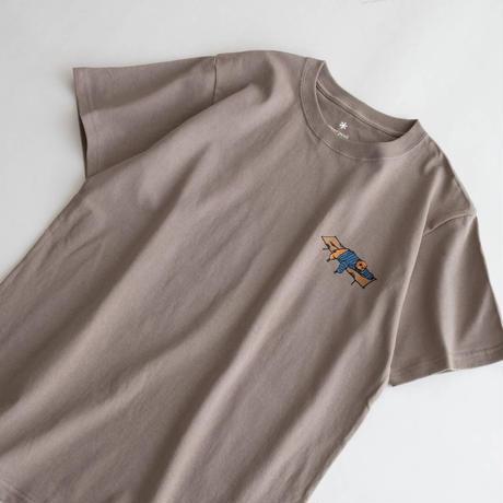 Snow Peak Printed T Iron High Tension Cot(Brown/Gray Khaki/White)