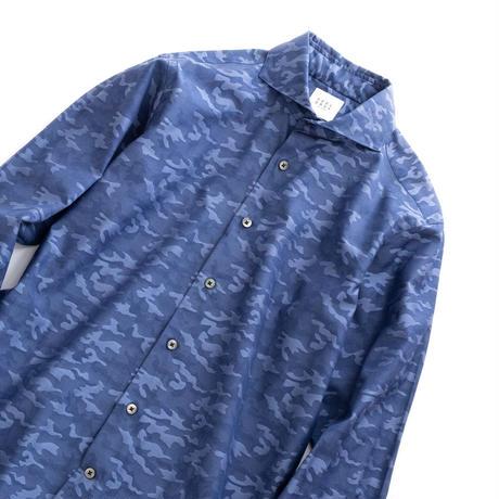 FEEL EASY ORIGINAL CAMOUFLAGE JACQUARD SHIRT(Blue)