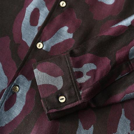 SHAREEF LEOPARD JQ L/S SHIRTS(Black)