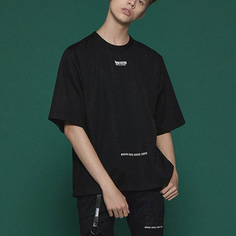 SHAREEF GEOMETRIC PATTERN BIG-T(Black)