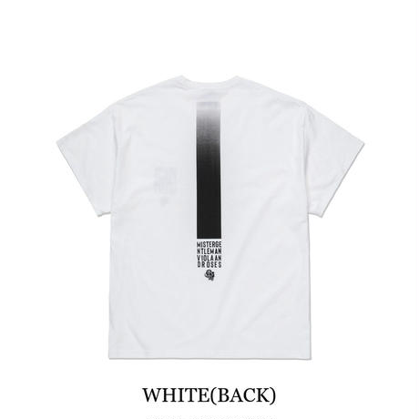 MISTERGENTLEMAN VIOLA & ROSES BIG TEE(WHITE/L.GRAY/BLACK)