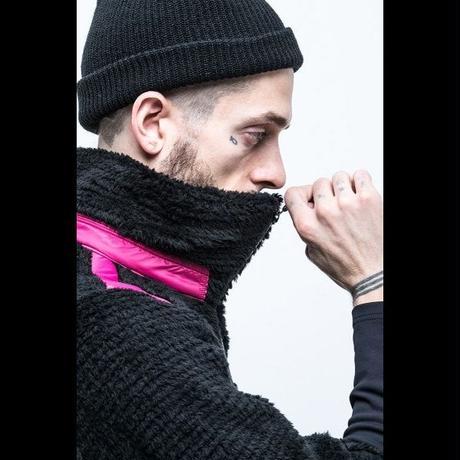 MofM(man of moods) フリースジャケットTYPE2(BLACK×PINK)
