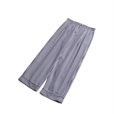 SHAREEF STRIPE PAJAMAS PANTS(White)