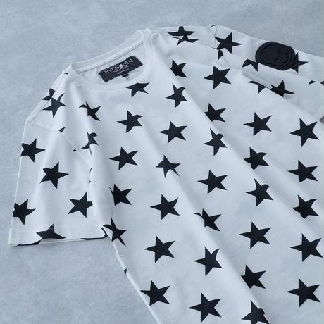 HYDROGEN ALLOVER STARS T-SHIRT(WHITE)