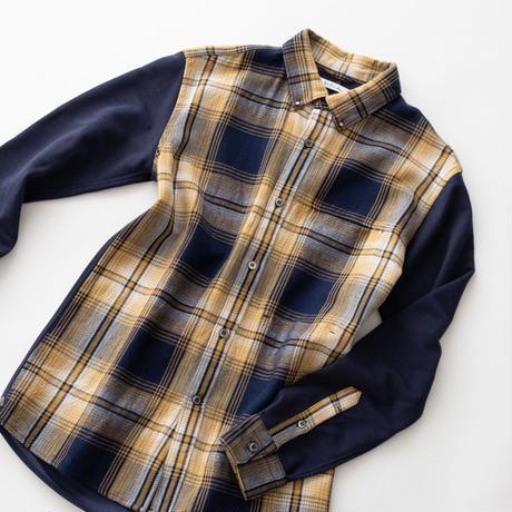Dr.Franken Dr.Shirts BD Pattern(Indigo×Yellow)