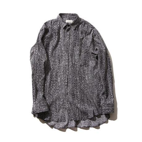 FACTOTUM NOIRプリント楊柳ロングシャツ(BLACK)