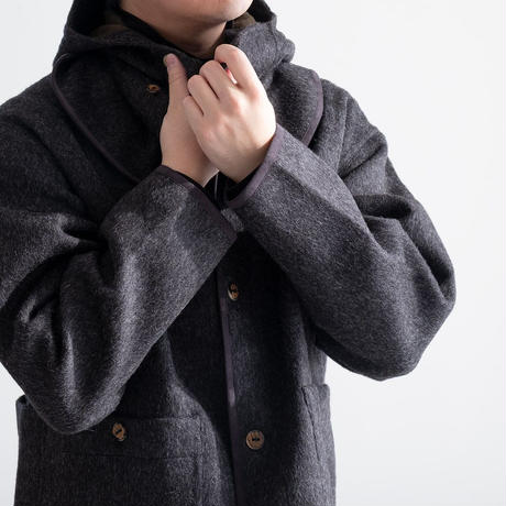 THE INOUE BROTHERS×Snow Peak Double Face Cardigan(Dark Gray)