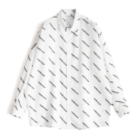 SHAREEF GAME OVER LOGO BIG SHIRTS(White)
