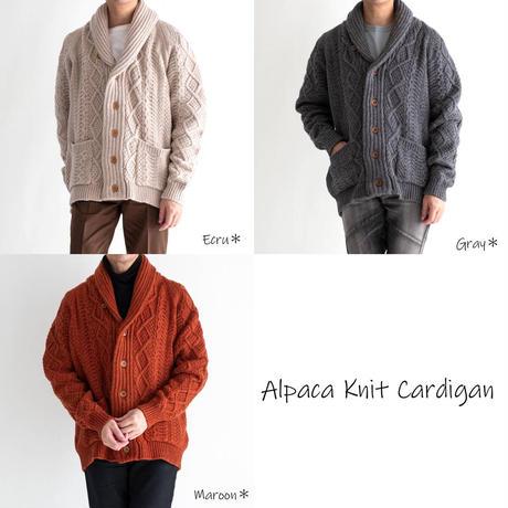 Snow Peak Alpaca Knit Cardigan(Gray)