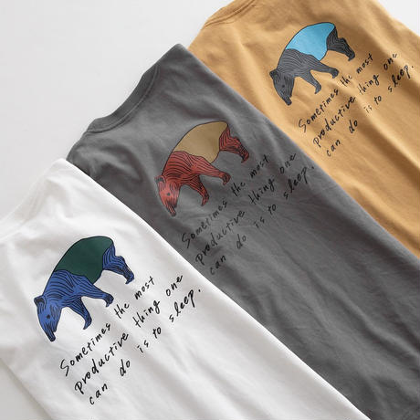 Snow Peak Printed Tshirt Bacoo(White/Gray Khaki/Mustard)