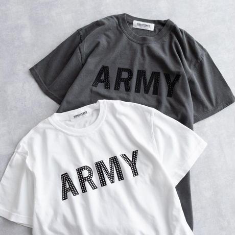 DISCOVERED CUSTOM ARMY TEE(WHITE/BLACK)