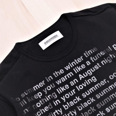 DISCOVERED PUT ON TEE SHIRT(BLACK)