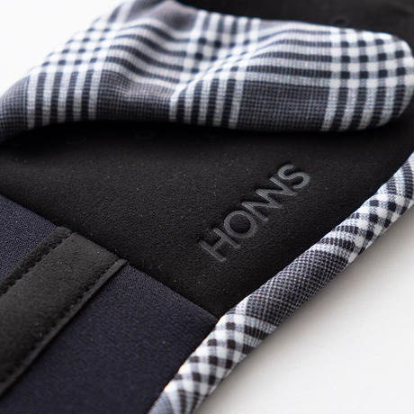 HONNS ESSENTIALS CLUTCH PLAID(GRAY)