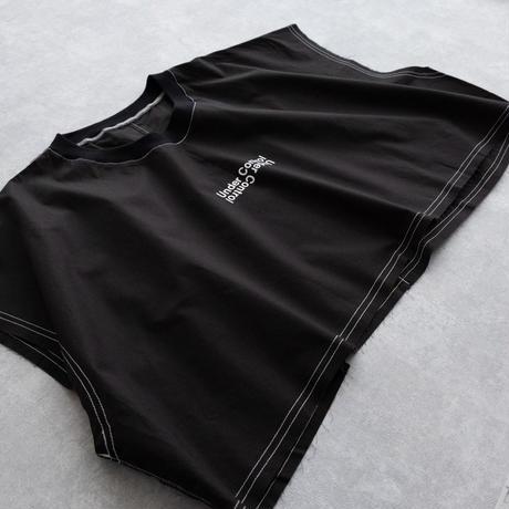 DISCOVERED LAYERED T-SHIRT(BLACK×BLACK)