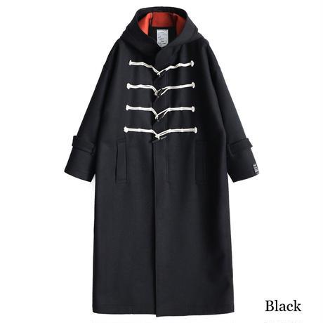SHAREEF W FACE MELTON DUFFEL COAT(Black)