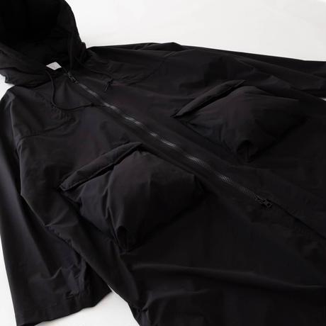 MISTERGENTLEMAN PUFFER POCKET HOODED COAT(BLACK)